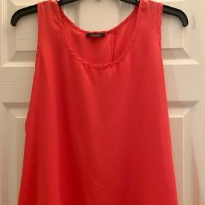 Coral Deb brand sleeveless top